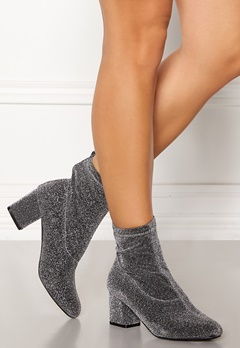 Pieces Donna Glitter Boot Silver Colour Bubbleroom.eu
