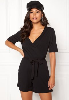 Pieces Duna SS Playsuit Black Bubbleroom.eu