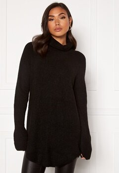 Pieces Ellen LS Long Knit Black Bubbleroom.eu
