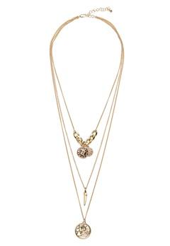 Pieces Elsa Combi Necklace Gold Bubbleroom.eu