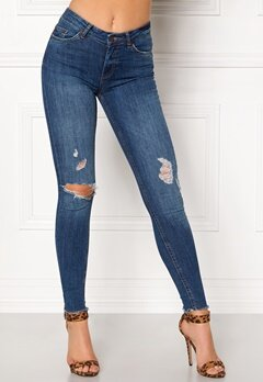 Pieces Five Delly Ankle Jeans Dark Blue Denim Bubbleroom.eu