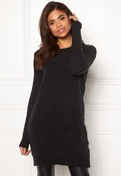 Pieces Fortuna LS Wool Long Knit Black Bubbleroom.eu