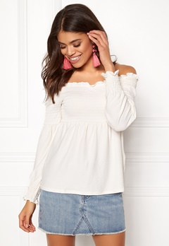 Pieces Gurli LS Offshoulder Top Cloud Dance Bubbleroom.eu