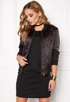 Pieces Haley Bomber Jacket Black Bubbleroom.eu