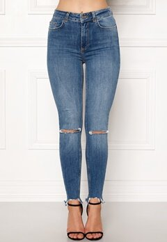Pieces Highfive Delly Jeans Medium Blue Denim Bubbleroom.eu