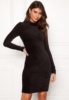 Pieces Indira LS T-Neck Dress Black Bubbleroom.eu