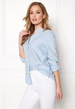 Pieces Irena LS Oxford Shirt Kentucky Blue Bubbleroom.eu