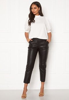 Pieces Ivina MW Cropped Pants Black Bubbleroom.eu