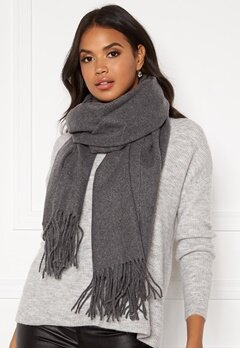 Pieces Jira Wool Scarf Medium Grey Melange Bubbleroom.eu