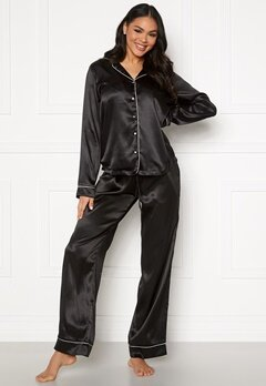 Pieces Juliana PJ Set Black Bubbleroom.eu