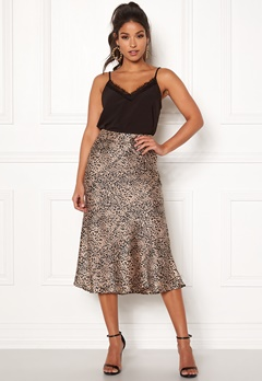 Pieces Kaia Skirt Black/Leopard Bubbleroom.eu