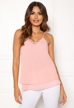 Pieces Kaysa Lace Slip Top Peachskin Bubbleroom.eu