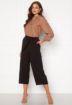 Pieces Kellie HW Culotte Pant Black Bubbleroom.eu