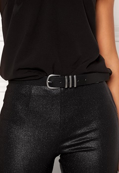 Pieces Lea Jeans Belt Black/Silver Bubbleroom.eu