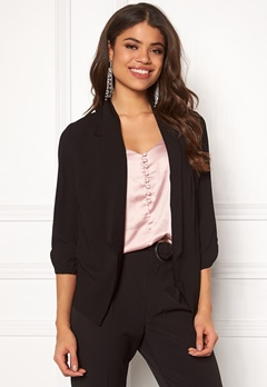 Pieces Leah 3/4 Blazer Black Bubbleroom.eu