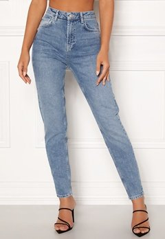 Pieces Leah Mom HW Ankle Jeans Light Blue Denim Bubbleroom.eu