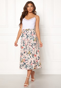 Pieces Liv HW Midi Skirt Lotus/Flowers Bubbleroom.eu