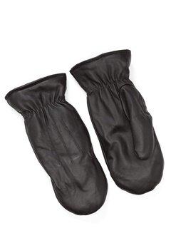 Pieces Nellie Leather Mittens Black Bubbleroom.eu