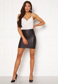 Pieces New Shiny HW Skirt Black Bubbleroom.eu