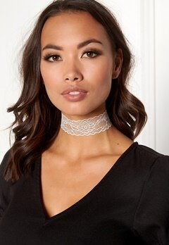 Pieces Nora Choker Bright White Bubbleroom.eu