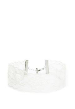 Pieces Nora Choker Bright White Bubbleroom.eu