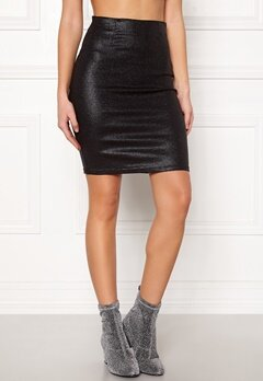 Pieces Paro HW Glitter Skirt Black Bubbleroom.eu