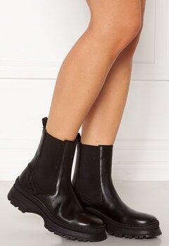 Pieces Selione Leather Boot Black Bubbleroom.eu