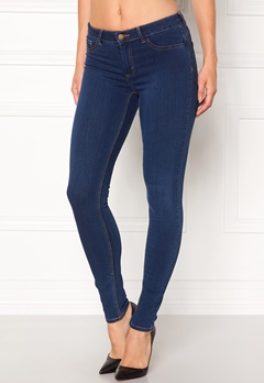 Pieces Shape-up Jeggings Dark Blue Denim Bubbleroom.eu