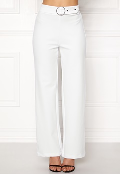 Pieces Vicca HW Vide Pants Bright White Bubbleroom.eu