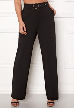 Pieces Vicca HW Wide Pants Black Bubbleroom.eu