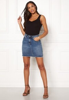 Pieces Aia Denim Skirt Light Blue Denim Bubbleroom.eu