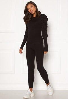 Girl In Mind Piper Ribbed Loungewear Set Black Bubbleroom.eu