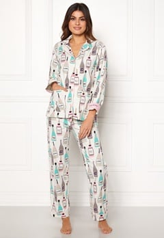 PJ. Salvage PJ Flannel Set Natural Bubbleroom.eu