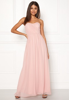 New Look Plain Bandeau Maxi Dress Shell Pink Bubbleroom.eu