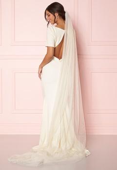 Zetterberg Couture Plain Veil Long 250 cm Creme Bubbleroom.eu