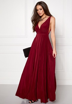 Goddiva Pleated Oscar Dress Wine Bubbleroom.eu