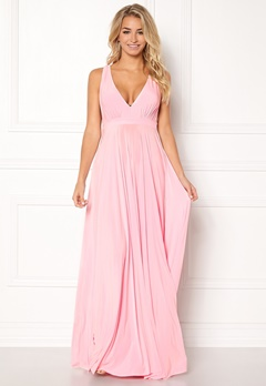 Goddiva Pleated Oscar Dress Pink Bubbleroom.eu
