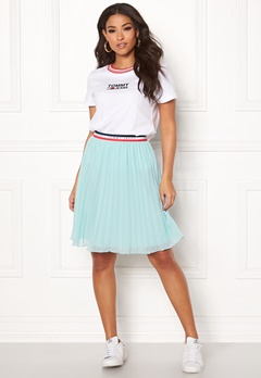 TOMMY JEANS Pleated Skirt 407 Canal Blue Bubbleroom.eu