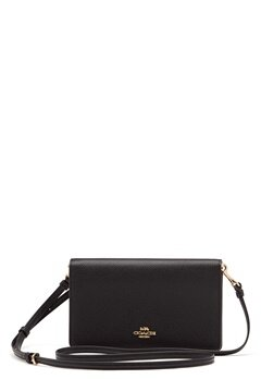 COACH Polished Pebble Foldover Black Bubbleroom.eu