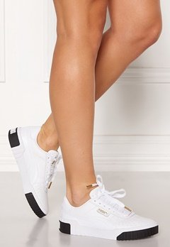 PUMA Cali Leather Sneakers 004 Wht/Blk Bubbleroom.eu