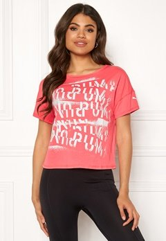 PUMA Hit Feel It Tee 001 Pink Bubbleroom.eu