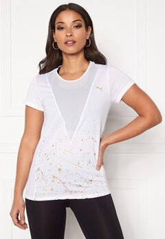 PUMA Metal Splash Deep V Tee White Bubbleroom.eu