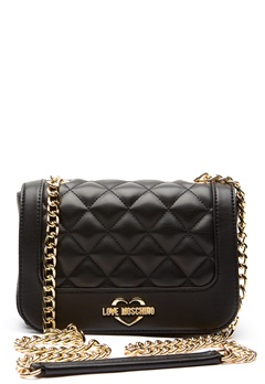 Love Moschino Quilted Small Chain Bag Black/Gold Bubbleroom.eu