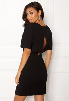 OBJECT Raisa S/S Plissé Dress Black Bubbleroom.eu