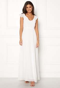 VILA Rannsil S/L Maxi Dress Cloud Dancer Bubbleroom.eu
