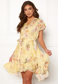 Ravn Belly Dress Yellow Flower Bubbleroom.eu