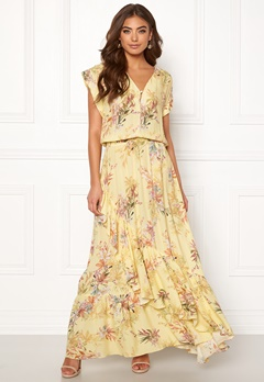 Ravn Bernie Dress Yellow Flower Bubbleroom.eu