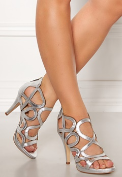 SARGOSSA Redefined Leather Heels Silver Bubbleroom.eu