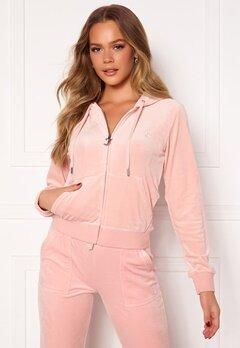Juicy Couture Robertson Classic Velour Hoodie Pale Pink Bubbleroom.eu