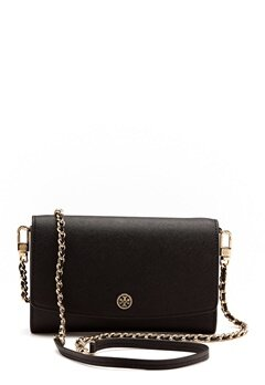 TORY BURCH Robinson Chain Wallet Black Bubbleroom.eu